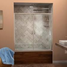 Bath Shower Doors Glass Frameless Shop Bathtub Doors At Lowes