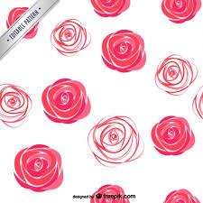 watercolor roses pattern vector free