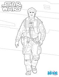 poe dameron star wars coloring pages hellokids com