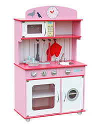 kinderk che holz rosa w10c026f kinderküche spielküche aus holz mit zubehör rosa