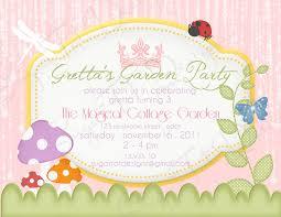 Fairy Garden Party Ideas by Garden Fairy Party Invitations Garden Xcyyxh Com