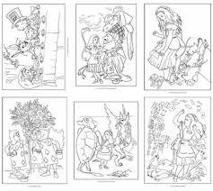wonderland coloring book