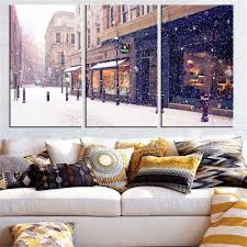 Home Decor Gift Online Get Cheap Oil Painting Snow Aliexpress Com Alibaba Group