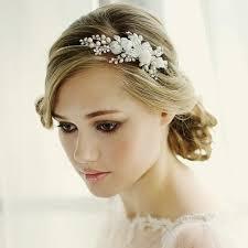flower hair band sassb clara pearl and flower hair band tiara happy wedding day