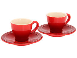 le creuset espresso cups in cherry red pg8001 0967 everything