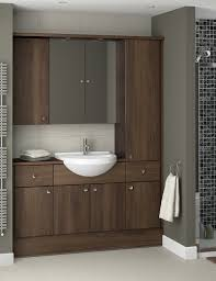Cheap Fitted Bathroom Furniture by Wood Effect Bathroom Furniture Mocha From Atlanta Bathrooms
