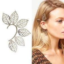 ear cuff 2018 new style unique big leaf ear cuff ear cuff earrings
