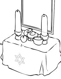 coloring pages jewish printable wedding preschool shabbat