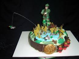 54 best hunting fishing cake ideas images on pinterest fishing