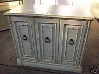 hollywood regency style dry bar faux bamboo white sideboard buffet