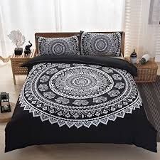indian mandala elephant boho bedding bohemian bedding duvet cover  with indian mandala elephant boho bedding bohemian bedding duvet cover set queen  size black from aluxurybedcom