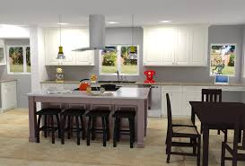 white enamel kitchen w island hood nick miller design