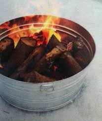 Making Fire Pit From Washer Tub - galvanized tub camp firepit patio u0026 lawn ideas pinterest