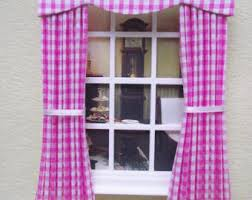 Gingham Nursery Curtains Pink Gingham Curtain Etsy