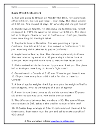 time word problems worksheets worksheets