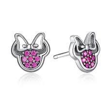 minnie mouse earrings earrings sterling silver minnie mouse earrings