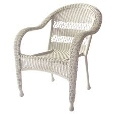 Garden Treasures Patio Chairs Shop Garden Treasures Shearport White Steel Woven Patio Chair At