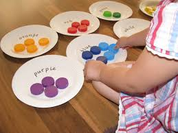 Matching Colors by Sorting Colours With Bottle Tops Learning 4 Kids
