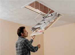 pull down attic stairs for small openings hide the pull down