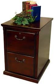 furniture polished wood two drawer file cabinet with brass handle