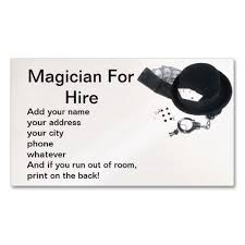 Magician Business Cards 198 Best Magician Business Cards Images On Pinterest