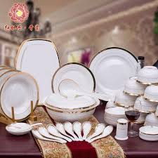 pretty china crockery luxury fashion dinnerware set of 56
