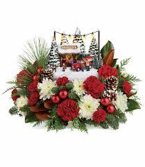 christmas flower arrangements christmas flower arrangements kinkade s family tree bouquet