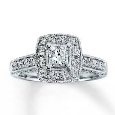 kay jewelers charms kay diamond engagement ring 1 ct tw princess cut 14k white gold