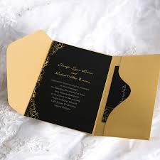 Wedding Invitation Pocket Black Pocket Wedding Invitations Pacq Co