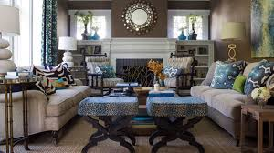 15 interesting combination of brown and blue living rooms home