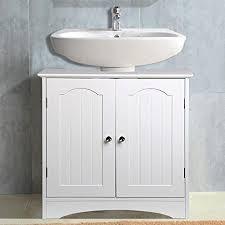 under sink storage tidy amazon co uk kitchen home popamazing white wood under sink bathroom cabinet freestanding