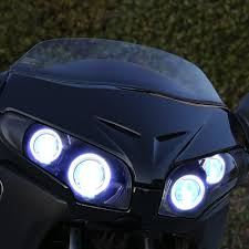 kt headlight for honda goldwing gl1800 2001 2017 led angel eye