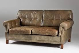 canape teck canapé en teck en cuir de ope möbler suède 1960s en vente sur