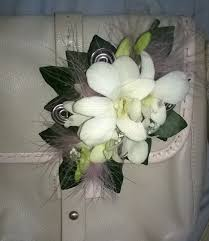 White Orchid Corsage Prom Flowers Eden Florists