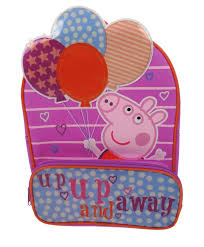 superman peppa pig and other peppa pig balloons backpack schoolbag