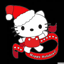kitty santa hat vector free download