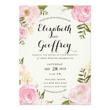 wedding invitation wedding invitations card vintage pink floral wedding invitation