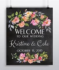 sign decor custom wedding sign personalized welcome wedding