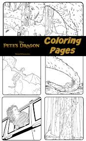 pete u0027s dragon coloring pages desert chica