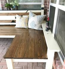Diy Floor L L Shaped Diy Backyard Bench Just 130 Abbotts At Home