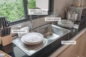 modern kitchen sink with drain boards and chrome faucet kitchen sink awesome outstanding medium modern rectangular single