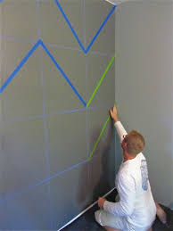How To Paint An Accent Wall by Diy Tutorial To Make A Chevron Pattern On Walls Furniture Or