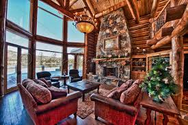 amazing log cabin living room also modern home interior design