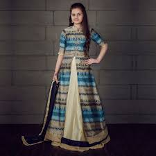 buy multicolored embroidered work lehenga suit for kids online