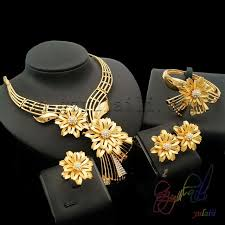 gold flower necklace designs images Yulaili latest design golden flower decoration golden mesh chain jpg