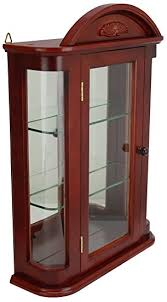 wall mounted curio cabinet amazon com glass curio cabinets rosedale wall mounted curio