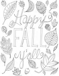 Happy Fall Y All Free Printable Coloring Page Fall Coloring Page