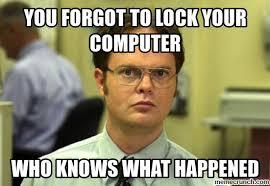 Lock Your Computer Meme - lock fail 1