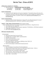 senior activities fees