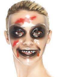 Funny Face Halloween Masks Transparent Female Face Mask 23088 Fancy Dress Ball